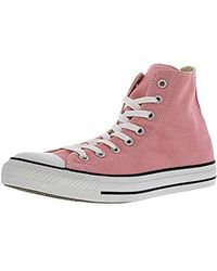 ea4414234cdb Lyst - Converse All Star Hi Canvas Trainers in Pink