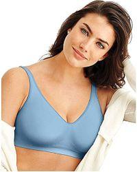 f07129a81ea9e Lyst - Bali Comfort Revolution Underwire Bra With Smart Sizes in Blue