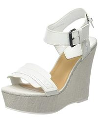 G-Star RAW - Claro Wedge, Wedge Heels Sandals - Lyst