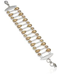 Lucky Brand - S Satin Finish Bracelet, Two Tone, One Size - Lyst