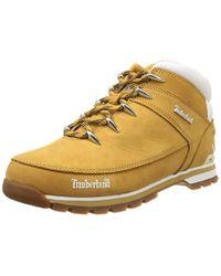 Timberland - Euro Sprint Hiker Stivali Uomo, Giallo (Wheat Yellow) 45 EU - Lyst