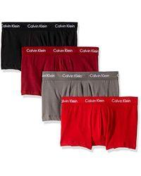 121306f37da1 Lyst - Calvin Klein Underwear Cotton Stretch 4 Pack Boxer Briefs in ...