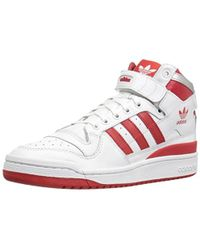 separation shoes 859f2 eeef9 adidas Originals - Forum Mid Refined Fashion Sneakers - Lyst