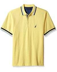 Nautica - Short Sleeve Performance Pique Polo With Tipping - Lyst