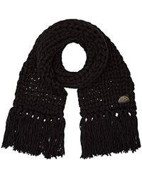 Levi's - Chunky Knit Oversized Scarf Noir Regular Black 59, One (size: Un) - Lyst