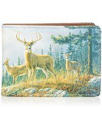 Buxton - Wildlife Autumn Whitetail Deer Front Pocket Slimfold Wallet - Lyst