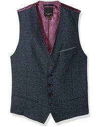 Ted Baker - Portwai Modern Slim Fit Semi Plain Waistcoat - Lyst