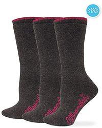 Wrangler - Ladies Cushion Angora Crew Socks 3 Pair Pack - Lyst