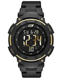 Skechers - Sr1019 Digital Display Quartz Black Watch - Lyst