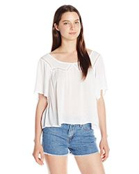 O'neill Sportswear - Juniors Sharon Gauze Blouse - Lyst