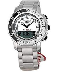 Tissot - T0264201103100 Sea Touch Quartz Chronograph Touch Screen White Dial Watch - Lyst