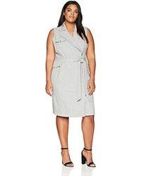 CALVIN KLEIN 205W39NYC - Plus Size Sleeveless Heathered Moto Dress - Lyst