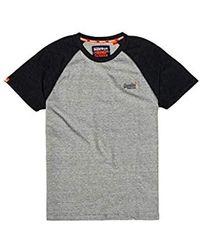 ef85340b Superdry Orange Label Baseball S/s Tee T-shirt in White for Men - Lyst