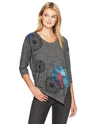 Desigual - Elqui Woman Knitted Short Sleeve T-shirt - Lyst