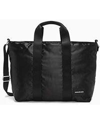 Calvin Klein - Satin Dw Tote, Unisex Adults' Satchel, Black, 12x42x27 Cm (b X H T) - Lyst