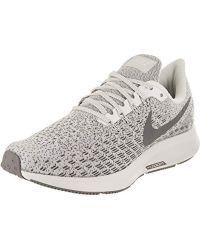 e4ec6555968c1 Nike Air Zoom Pegasus 35 Premium Running Shoe in Gray - Lyst