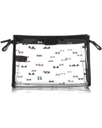 Fossil - Travel Large Cosmetic Case Clear - Lyst