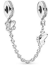 PANDORA - 797865cz Safety Chain Decorative Butterflies - Lyst