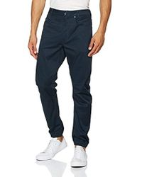 666ccd95dc2 G-Star RAW Tapered Corduroy Trousers in Brown for Men - Lyst