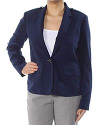 Kasper - Stretch Crepe 1 Button Notch Lapel Jacket - Lyst
