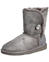 4b82f6ce2ec UGG Classic Short Serape Bling Wool Boots in Natural - Lyst