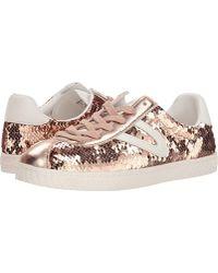 9905850762 Lyst - Vans Women s Camden Deluxe Flamingo Lace-up Sneakers