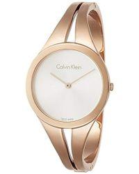 Calvin Klein - Reloj Analogico para Mujer de Cuarzo con Correa en Acero Inoxidable K7W2M616 - Lyst