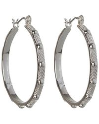 BCBGeneration - Bcbg Generation Studded Hoop Earrings - Lyst
