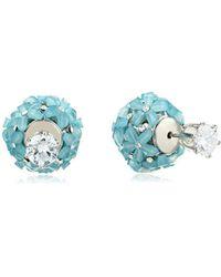 Nina - Jewelry Spring 2018 S E-pisa Earrings, Rhodium/blue Cz - Lyst