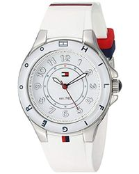 Tommy Hilfiger - 1781271 Stainless Steel Watch With White Silicone Band - Lyst