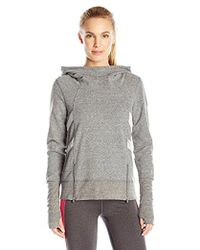 Steve Madden - Funnel Neck French Terry With Mesh And Zipper Detail - Lyst