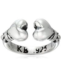 King Baby Studio - Heartbreaker Open End Hearts Ring, Size 3 - Lyst