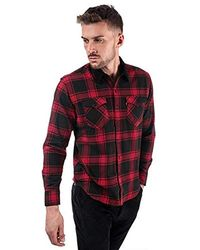 9b2e07c6b6f05b Levi's - S Modern Barstow Western Shirt In Red- Long Sleeve- Curved Hem-