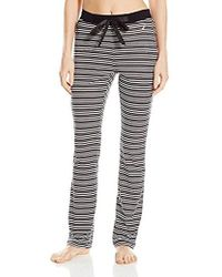 Nautica - Sleepwear Black And Pink Stripe Pajama Pant - Lyst