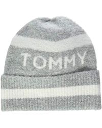 072ae4d8 Tommy Hilfiger Sequin Mascot Beanie Hat in Blue - Lyst