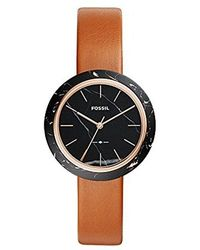 Fossil - Camille Three-hand Luggage Leather Watch - Lyst
