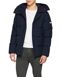 Tommy Hilfiger - Heavy Canvas Down Bomber Jacket - Lyst