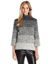 Ellen Tracy - Marled Funnel Neck - Lyst