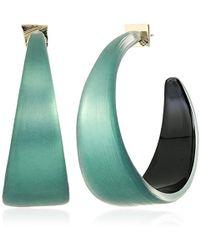 Alexis Bittar - S Wide Graduated Medium Hoop Earrings, Teal Blue - Lyst
