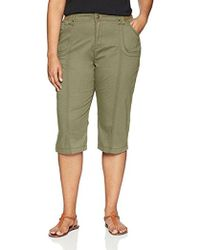 Lee Jeans - Plus Size Relaxed Fit Lyric Knit Waist Cargo Capri Pant - Lyst