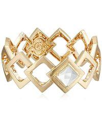 Kensie - Stretch Link Open And Crystal Bracelet - Lyst