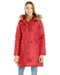 0aace375b23eb Madden Girl - Multi Pocket Insulated Coat - Lyst