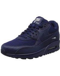 cheap for discount 42a9d 5004e Nike - Air Max 90 Essential Gymnastics Shoes, Blue (midnight Navy white 404