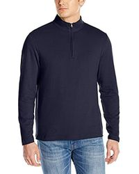 Izod - Long Sleeve Ottoman 1/4 Zip Solid Pullover - Lyst