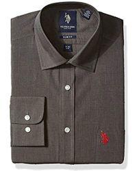 U.S. POLO ASSN. - End Slim Regular Fit Semi Spread Collar Dress Shirt - Lyst