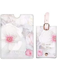 Ted Baker - Luggage Tag And Passport Set, Chelsea Border - Lyst
