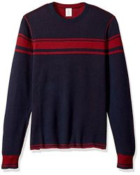 Original Penguin - Reversible Chest Striped Crew Sweater - Lyst