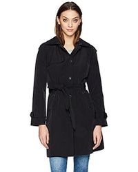 London Fog - Snap Front Trench Coat - Lyst