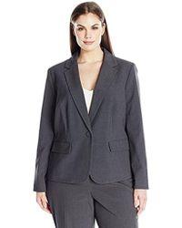 Nine West - Plus Size Solid Jacket - Lyst