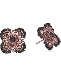 Miguel Ases - Onyx Center 3d Gerbera Daisy Post Drop Earrings - Lyst
